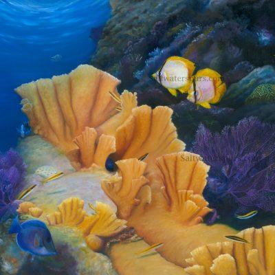 Ocean Beneath & Tropical Paintings