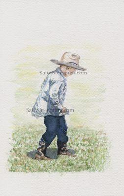 """Chasing Shadows"" </br> Original Watercolor 6"" x 9"""