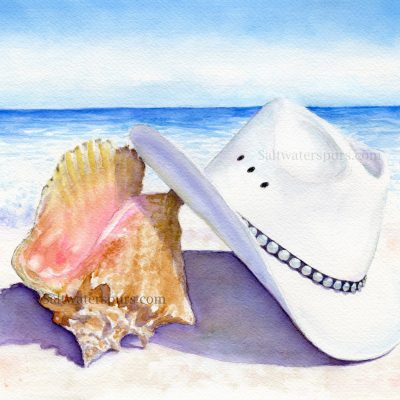 Conch Shell and Cowboy Hat