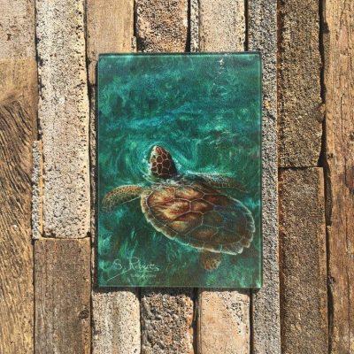 Glass Cutting Board With Art